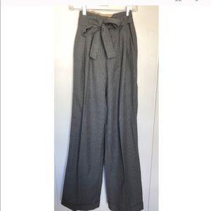Rag & Bone Pin Stripe Wide Leg Tie Trousers Sz 28